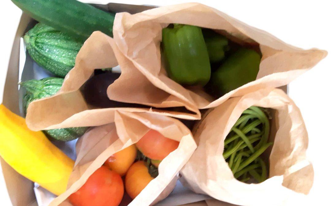 Paniers de légumes – culture raisonnée